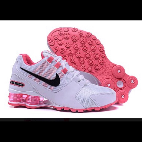 hot pink black and white nike shox 97baac9a21